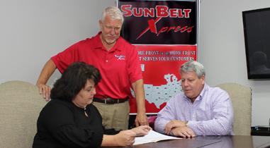 SunBelt Xpress team members meeting